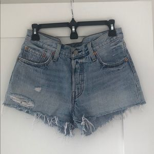 Levi Vintage 501 Cutoff Denim Shorts